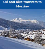 Ski and bike transfers to Morzine