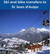 Ski and bike transfers to  St Jean d'Aulps